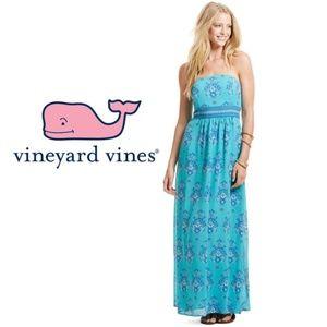Vineyard Vines Scarf Print Medallion Maxi Dress